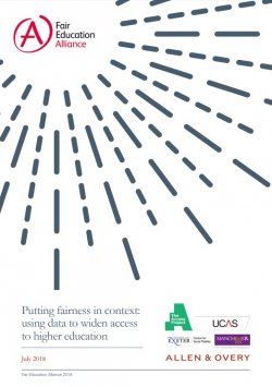 Putting fairness in context: using data to widen access to higher education
